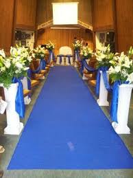 Church Decorations ROYAL BLUE