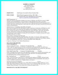 Download Professional College Golf Resume Template Examples Of Free Example Caddy
