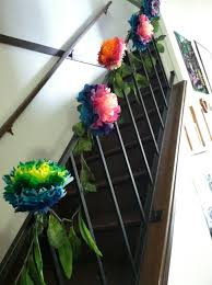 Made Tissue Paper Flowers And A Garland Out Of Leaves From Dollar ... Dress Up A Lantern Candlestick Wreath Banister Wedding Pew 24 Best Railing Decour Images On Pinterest Wedding This Plant Called The Mandivilla Vine Is Beautiful It Fast 27 Stair Decorations Stairs Banisters Flower Box Attractive Exterior Adjustable Best 25 Staircase Decoration Ideas Pin By Lea Sewell For The Home Rainy And Uncategorized Mondu Floral Design Highend Dtown Toronto Banister Balcony Garden Viva Selfwatering Planter 28 Another Easyfirepitscom Diy Gas Fire Pit Cversion That