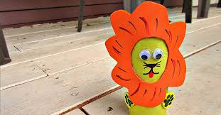 Lion Zoo Animal Toilet Paper Roll Crafts For Kids