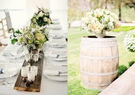 Rustic Wedding Decor Collage Wooden Table Runner Barrel