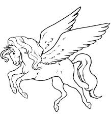 Free Printable Unicorn Coloring Pages With Wings Colouring