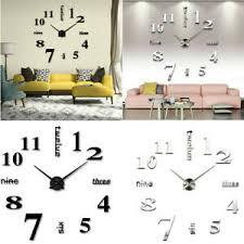 details zu design acryl wanduhr 3d wandtattoo modern diy deko spiegel wohnzimmer