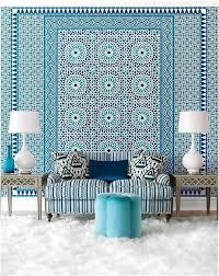 joli canapé salon interieur bleu canape marocain