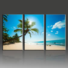 3 Piece Canvas Wall Art Abstract Setsbeach Waves Picturesbeach Home Decorbeach Pictures For Living Room In Painting Calligraphy From
