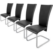 4x esszimmerstühle freischwinger stühle schwingstuhl esszimmerstuhl hochlehner farbe schwarz