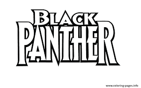 Black Panther Coloring Pages Superhero Logo Civil War