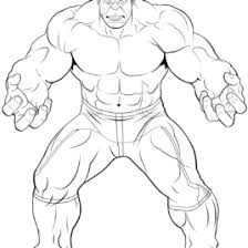Avengers The Hulk Coloring Page Free Printable Pages