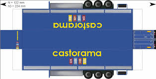 18 Wheel Truck Paper Templates | Castorama Related Keywords ...