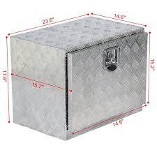 100 Aluminum Truck Box Yaheetech 24 L Trailer Pickup Tool Flatbed