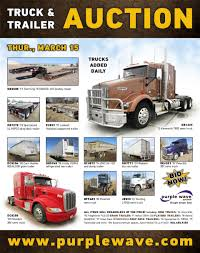 SOLD! March 15 Truck And Trailer Auction   PurpleWave, Inc. 2017 Kenworth T300 Heavy Duty Dump Truck For Sale 16531 Miles 1999 Volvo Vn Semi Truck Item C2435 Sold Tuesday August Auctions 1978 Gmc Astro Cabover Semi 2000 Freightliner Fld K3451 Decemb Er Equipment Trucks Vacuum And More For Sale 2019 Vnl64t740 Sleeper Missoula Mt Foster Maintenance Cstruction Auction The Wendt 2018 Cascadia 126 El Paso 1980 Intertional Harvester 4070 Transtar Ii I North State Bank Repo Of 2002
