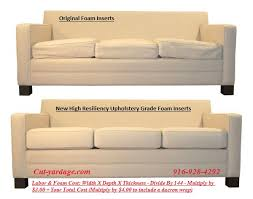 Replacement Sofa Pillow Inserts by Upholstery Foam Chair Foam High Resiliency Foam Sacramento Ca