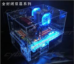 2018 Diy Acrylic Full Water Cold Computer Transparent Case Standard Atx Double Layer Desktop From Wangyeyun53 21006