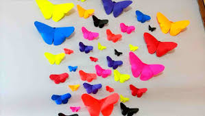 Diy Crafts Youtuberhyoutubecom How Easy Paper For Walls To Make Butterflies Wall Decor