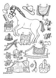 Vintage Paper Doll Coloring Pages Apples Pony Page
