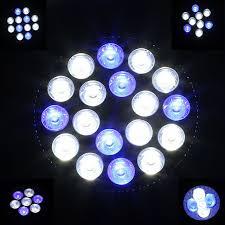 new led coral reef aquarium light 15w 54w white blue 60 degree e27