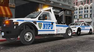 100 Gta 4 Tow Truck NYPD Fleet Services Division F550 GTA5Modscom