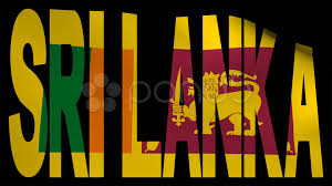 Sri Lanka Text With Fluttering Flag Animation Clip 12453637