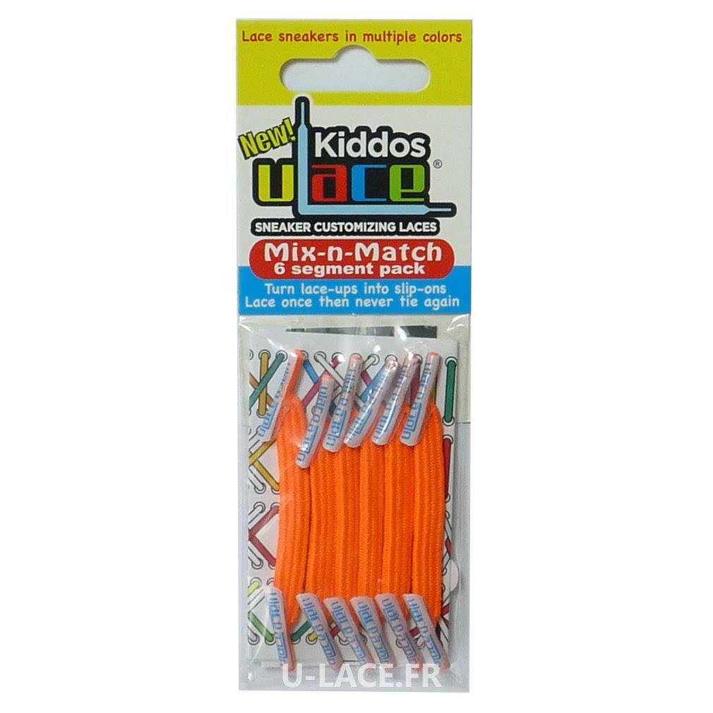 U-lace Kiddos Customizing Shoelaces - Neon Orange