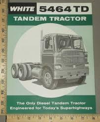100 Truck Tandems 1961 White 5464TD Brochure Folder EBay