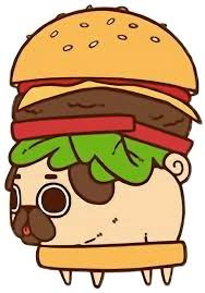 Png Free Stock Cute Kawaii Pug Chibi Food Hamburger Freetoedit