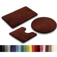 vonella uni badematte badteppich größen und farbauswahl 1350 g m2 schokobraun 50 x 80 cm