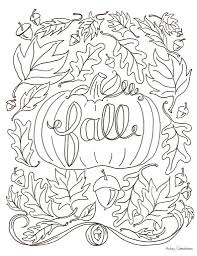Download Coloring Pages Fall Printable Autumn Futpal Online
