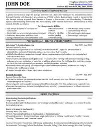 Click Here To Download This Laboratory Technician Resume Template