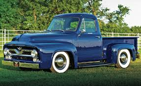 The Mid-50s Ford F-100 Was A Mean Ride 1955 Ford F100 Street Rod Truck 1953 Pickup Stepside 54 55 56 Hot Stock Custom W 460 Racing Engine 20 Inch Rims Truckin Magazine Motor Vehicle Collections Pinterest For Sale On Classiccarscom Chevy Apache New Restoration Youtube Network