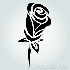 How To Draw A Rose Tribal Tattoo Pop Path