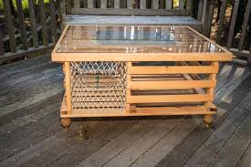 lobster trap coffee table finished mcmahon s maine lobster trap