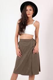 suede a line midi skirt dress ala