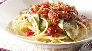 spaghetti bolognaise aux légumes grillés recette facile et