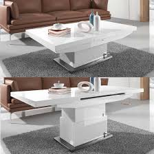 Facebook Twitter Google Elgin Extending Coffee In To A Dining Table White Gloss