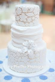 Elegant White Lace Wedding Cake Without The Flower And Front Add A Rustic Topper