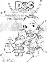 Friendship Is The Best Medicine In Doc McStuffins Coloring Page