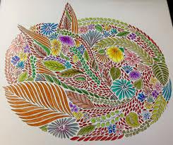 Sleeping Fox From Animal Kingdom By Millie Marotta Using Prisma Pencils