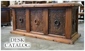 Rustic Wood Office Desk Furniture Style Pine Custom