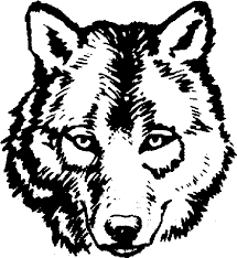 Adult Wolf Face Coloring Pages