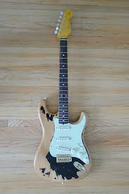 Nystrum Stratocaster Heavy Relic John Mayer Black 1 Black1 Blk1