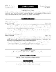 Junior Accountant Resume Sample Apply For Position Important Have
