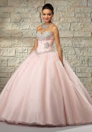 tulle with basque waist and beaded bodice quinceanera dress