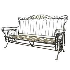 Vintage Wrought Iron Patio Furniture Woodard by Vintage Wrought Iron Outdoor Patio Glider Swing Sofa Loveseat