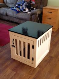 How To Build A End Table Dog Crate by Ana White First Project Dog Kennel End Table Diy Projects