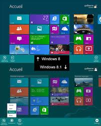 bureau windows 8 avant et après windows 8 1 les différences en images