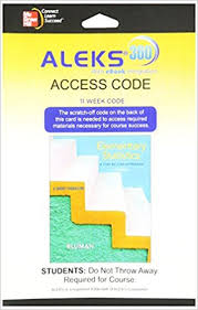 ALEKS 360 Access Card 11 Weeks For Elementary Statistics A Brief Version 6th Edition