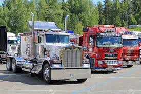100 Cabover Show Trucks HAMEENLINNA FINLAND JULY 11 2015 Classic Kenworth And Finnish