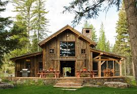 pole barn house plans Exterior Rustic with lawn cabin
