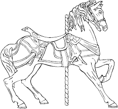 Carousel Horse Coloring Book Pages