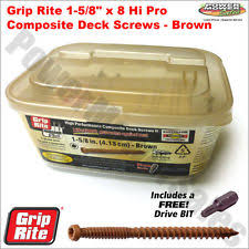 grip rite deck screws primeguard grip rite nails screws fasteners ebay